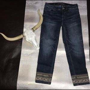White House Black Market Straight Crop Jean